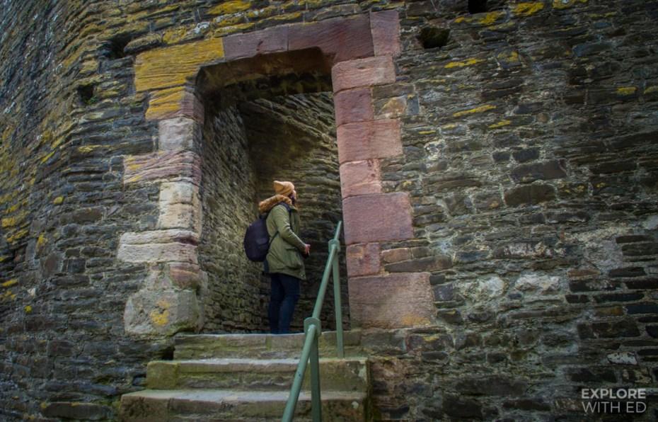 Exploring Conwy Castle's rooms