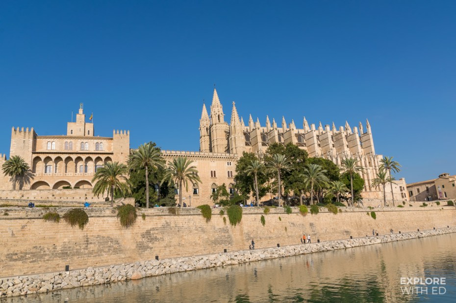 The Gothic Cathedral in Palma de Mallorca Spain