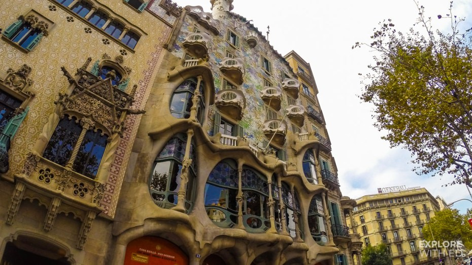 The house of skulls and bones in Barcelona by Gaudi