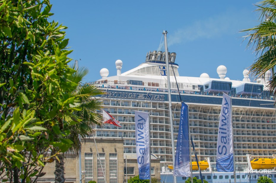 Anthem of the Seas docked in Vigo Spain