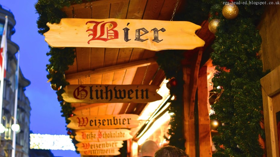 Birmingham Christmas Market Drink Stall