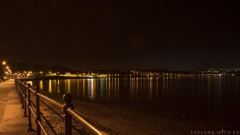 Mumbles at night Swansea Bay