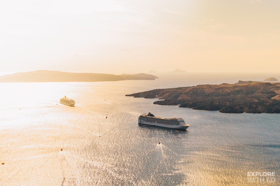 The volcanic bay of Santorini