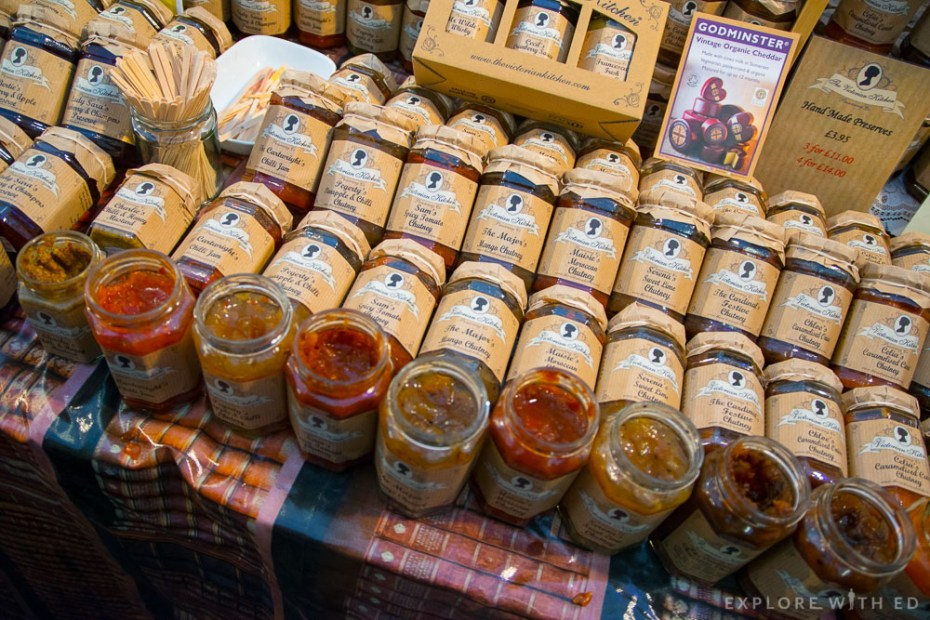 The Victorian Kitchen Chutneys and Godminster Cheese