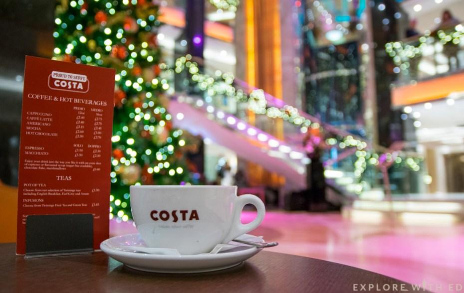 Costa Coffee P&O, Ventura, Christmas