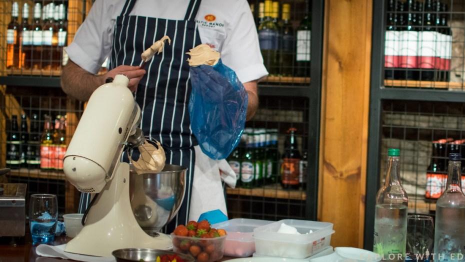 Food masterclass, Newbridge on Usk, meringue