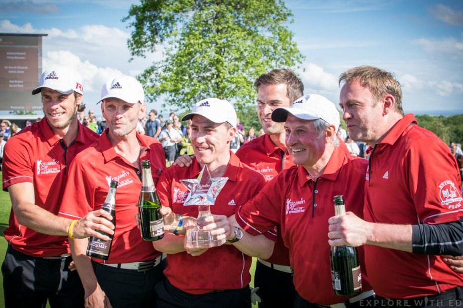 Gareth Bale, Andrew Howard, Rob Brydon, Gethin Jones, Sir Gareth Edwards, Philip Glenister