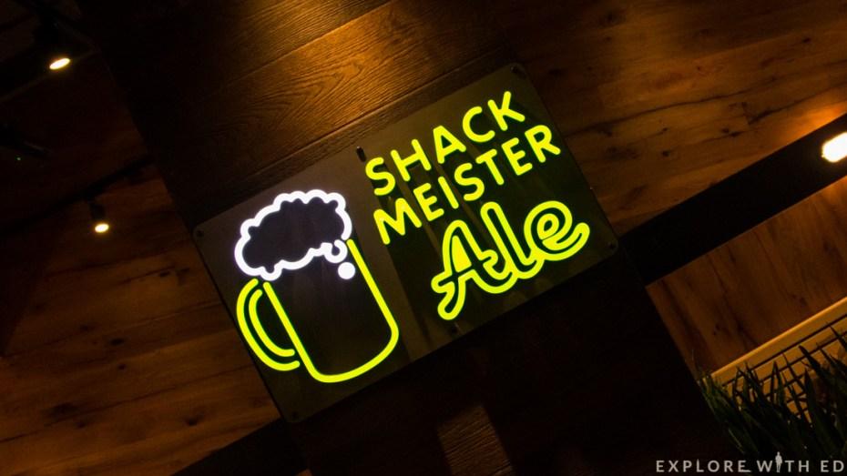 Shackmeister Ale sign, Shake Shack St Davids Cardiff