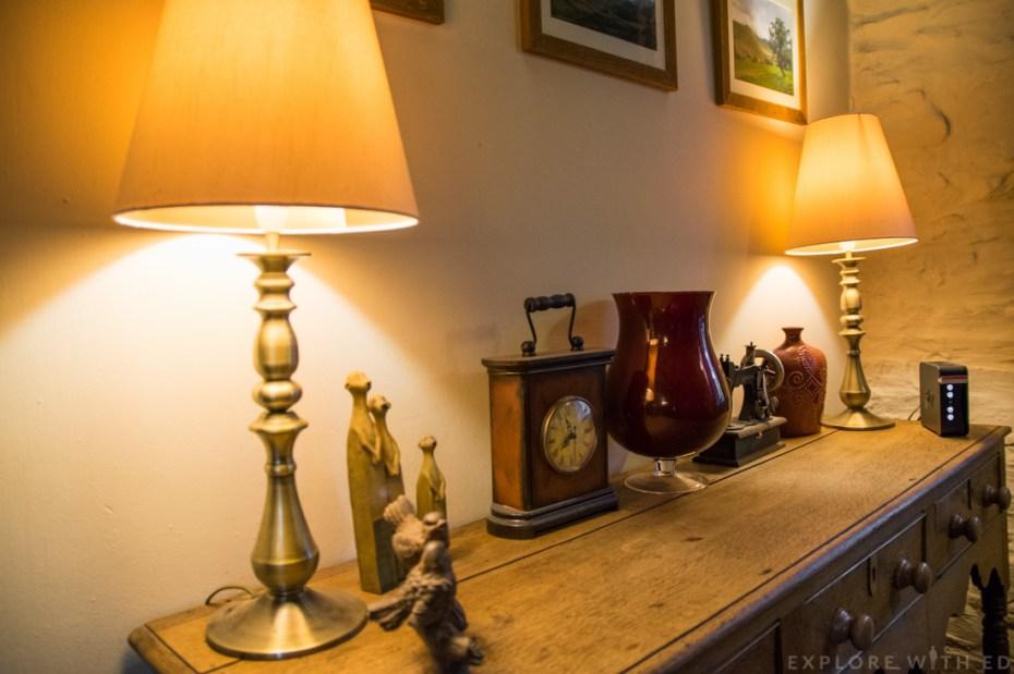 Ornaments inside Tyn y Coed Cottage