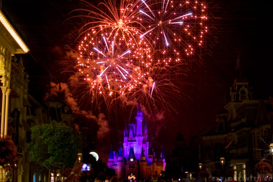 Wishes fireworks in Magic Kingdom