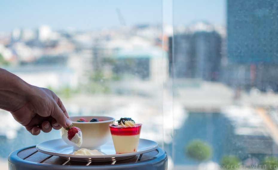 Strawberries and cream, Anthem of the Seas balcony