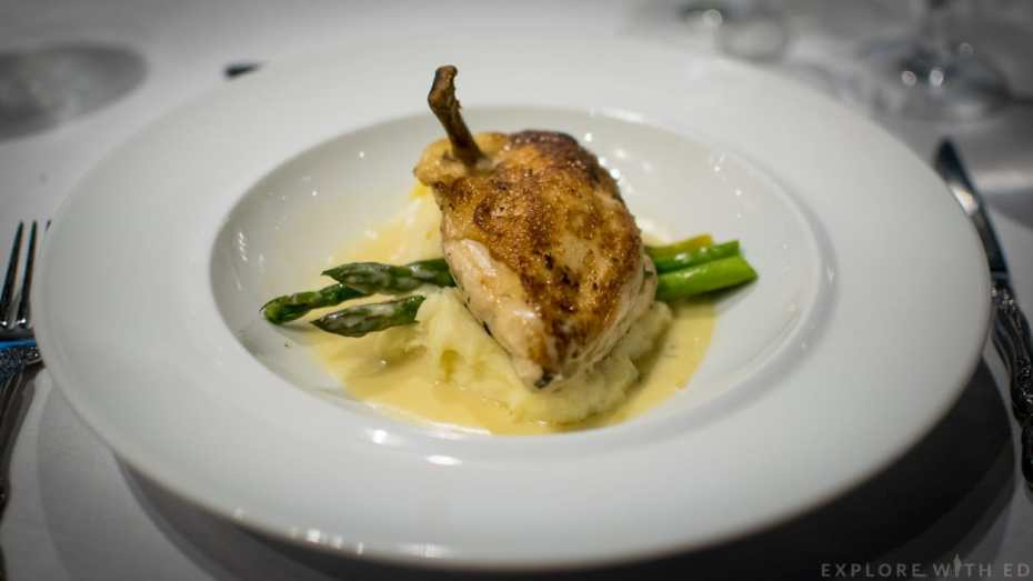 Main course at The Grande, Anthem of the Seas