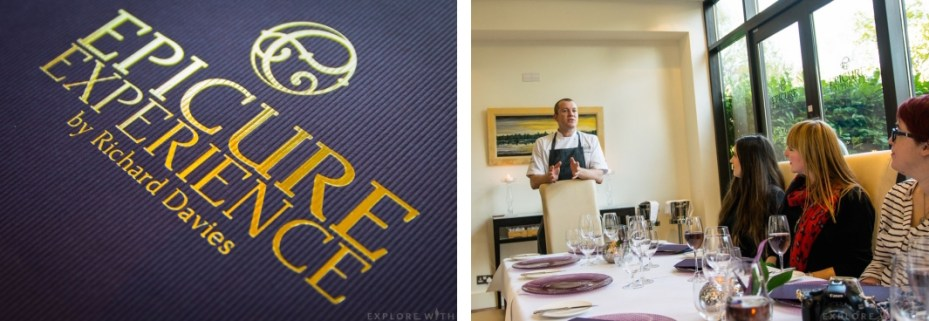Epicure Experience Menu and Head Chef Richard Davies