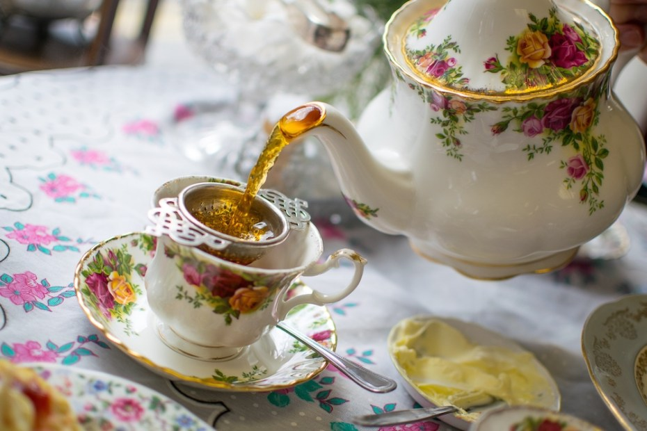 A pouring shot from the Victorian Tea Rooms in Abergavenny