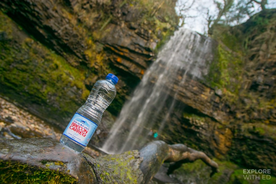 Brecon Water bottle in the Beacons
