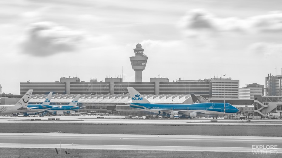 Plane spotting at Schiphol Airport