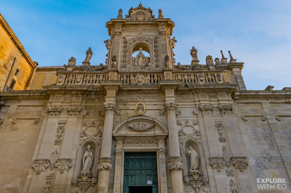 Lecce Cathedral exterior designed in the 17th century Baroque style