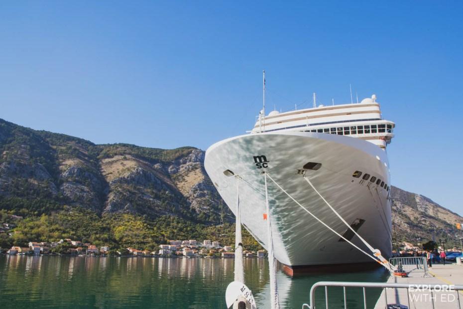 MSC Musica docked in Kotor, Montenegro