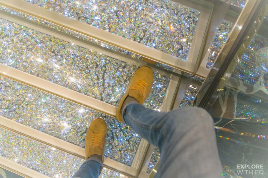Swarovski Crystal Staircase on MSC Preziosa