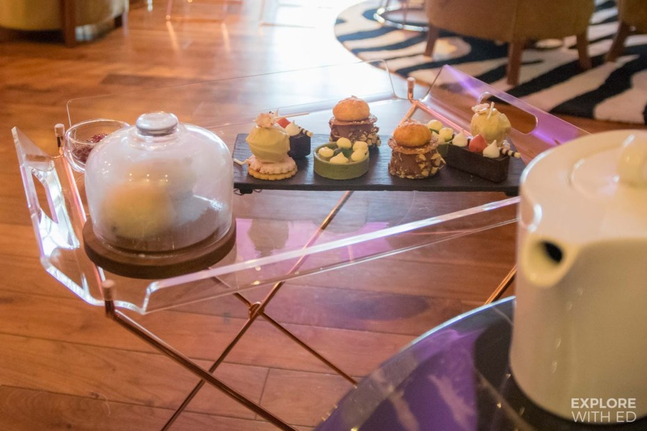 Pastry Perfection course of Mulberry Bar Afternoon Tea with scones