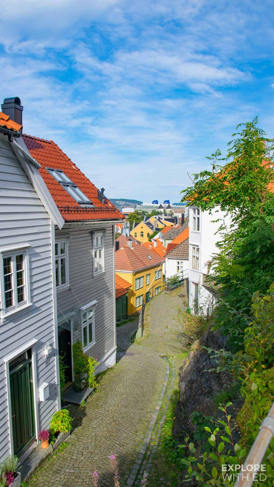Colourful townhouses in Bergen Norway