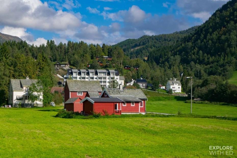 Typical Norwegian Village near Gudvangen