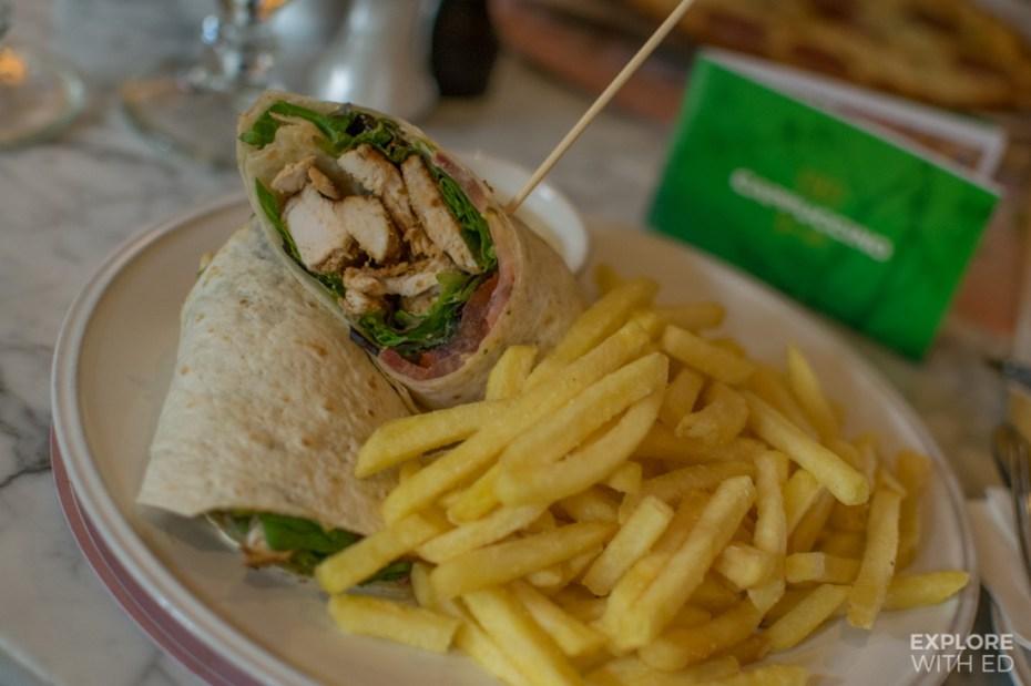 Lunch menu in Cappuccino Grand Cafe Palma de Mallorca