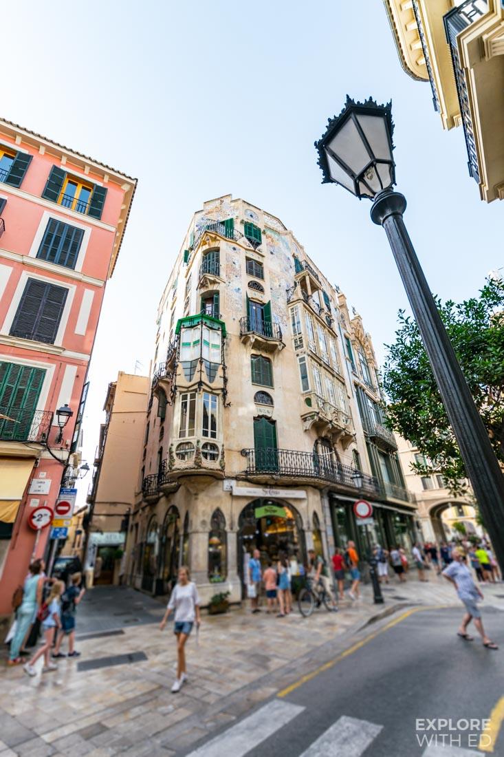 Beautiful architecture in Palma de Mallorca Spain