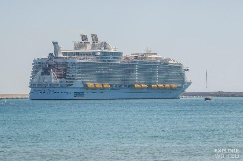 Symhpony of the Seas docked in Palma de Mallorca