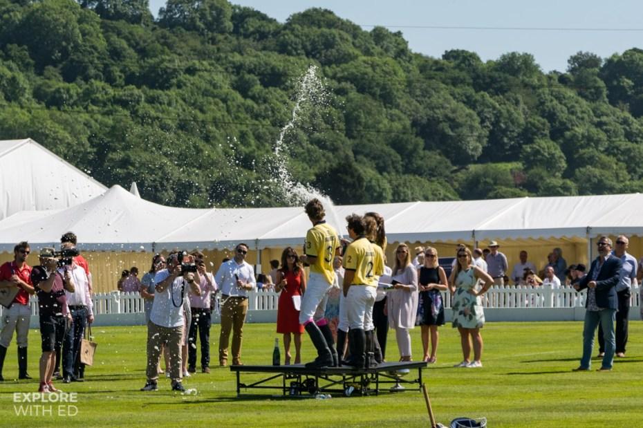 Bulmers team champagne winners