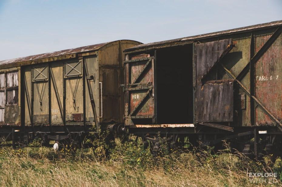 Abandoned trains on the Salisbury Plains