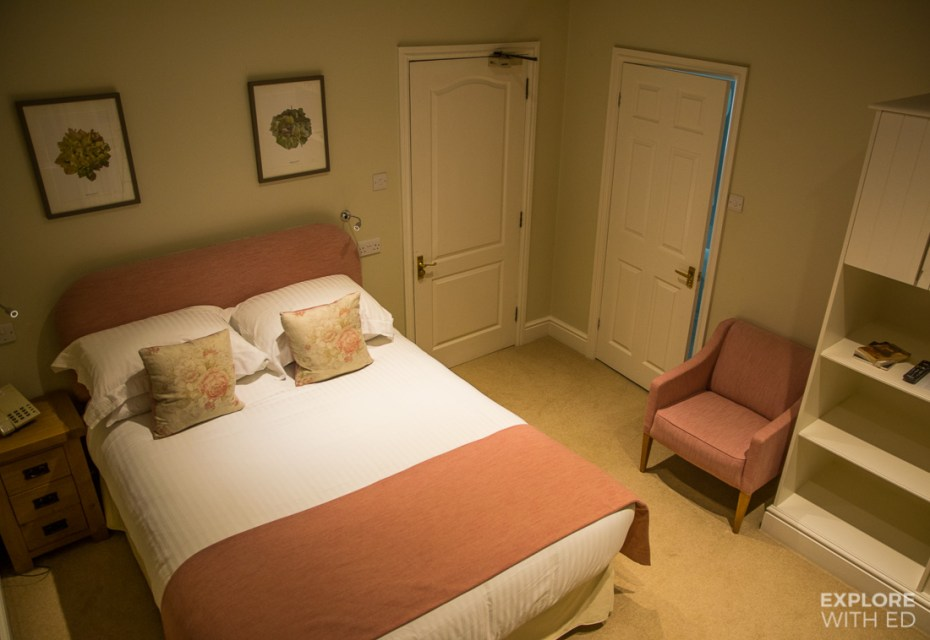 Country style hotel room in Mid Wales