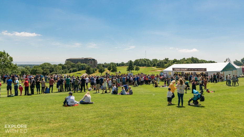 Food Village area at The Celebrity Cup 2017