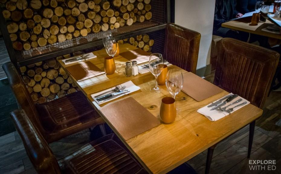 Table setting at The Rib Smokehouse