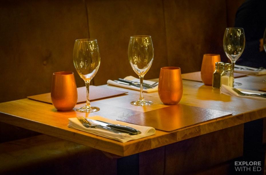 Tables at The Rib Smokehouse and Grill