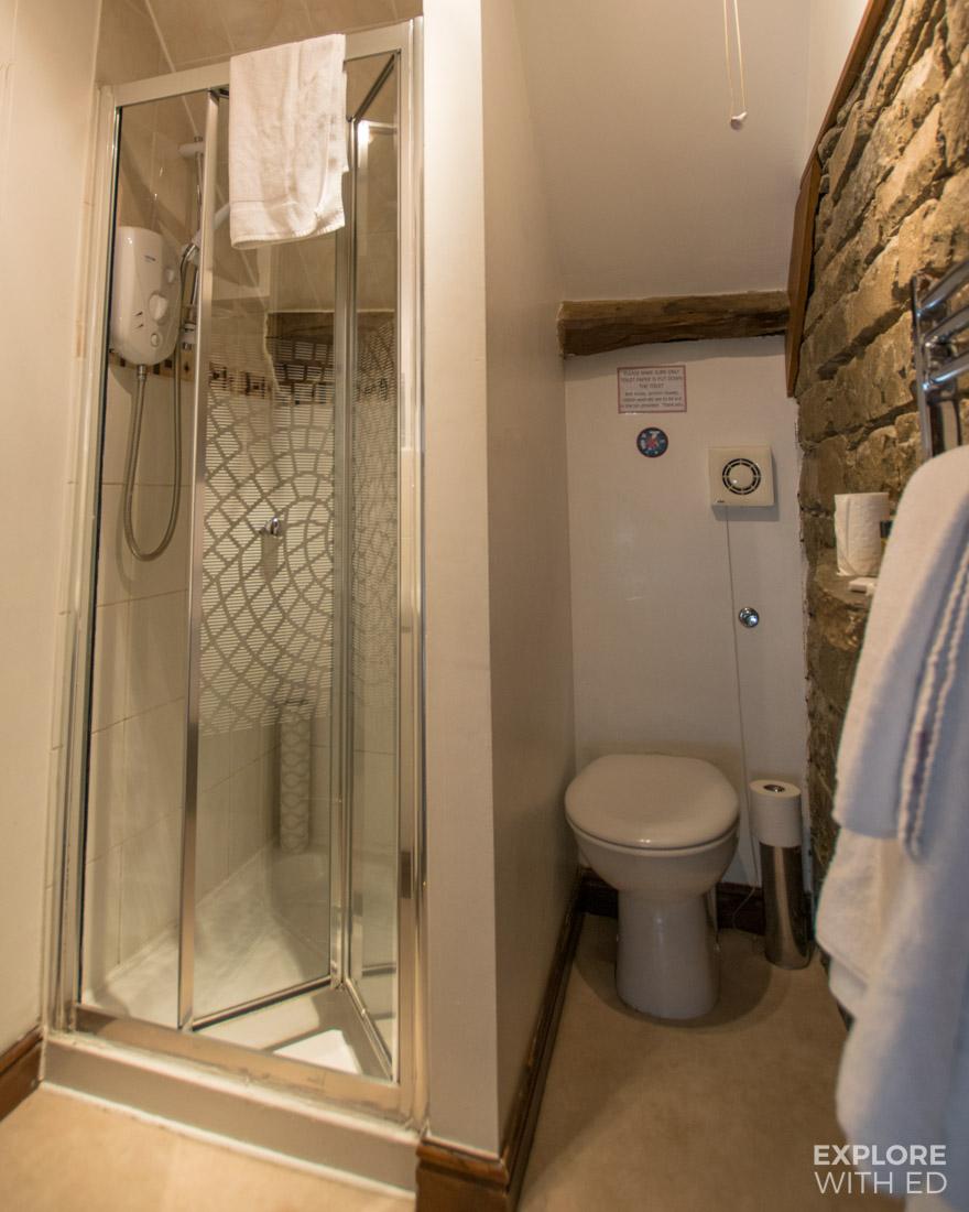 Shower room in Ty Morgans Inn