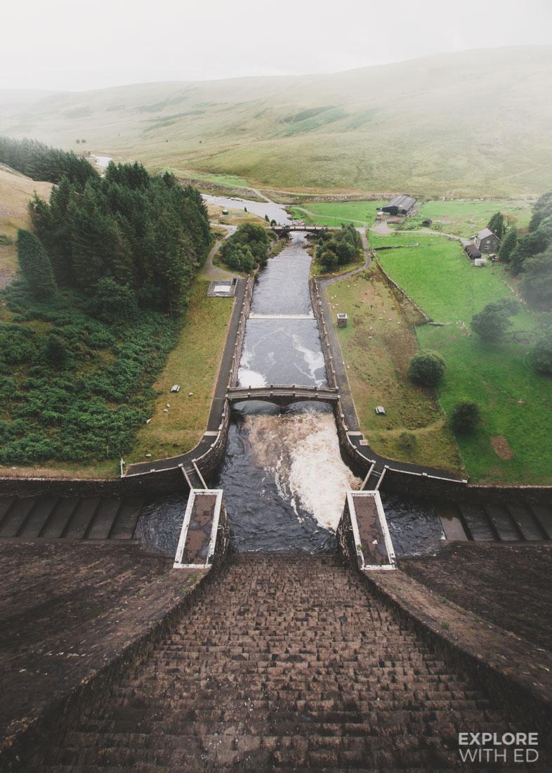 Overlooking Claerwen Dam in The Elan Valley