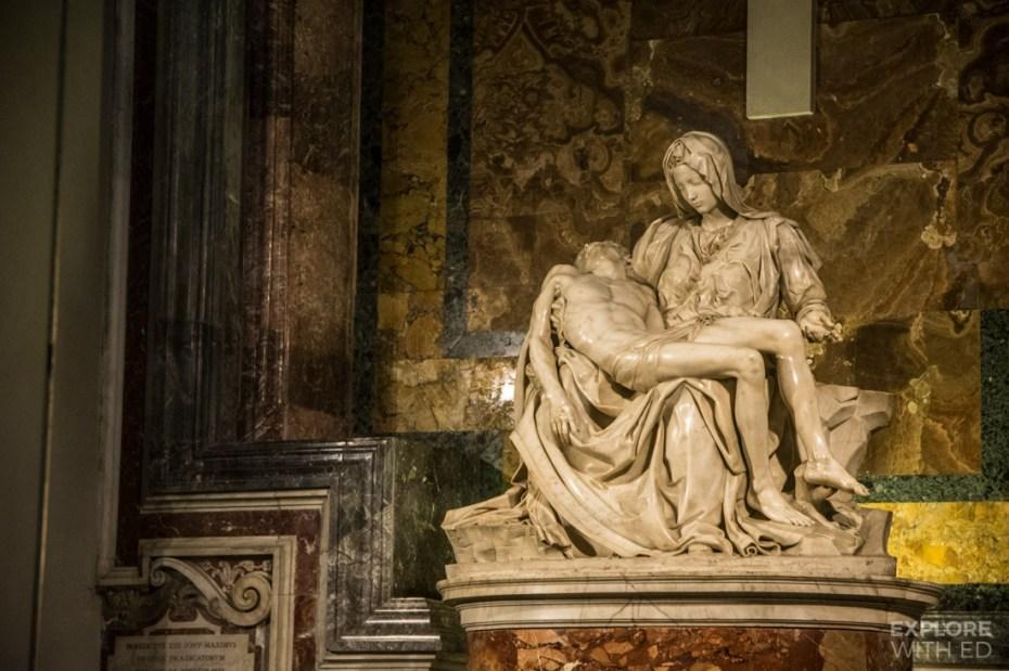 Pietà by Michelangelo inside St Peter's Basilica