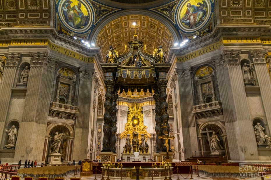 Beautiful sculptures inside Saint Peter's Basilica