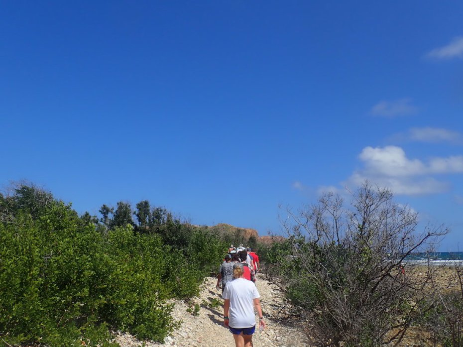 Hiking Cas Cay in St. Thomas