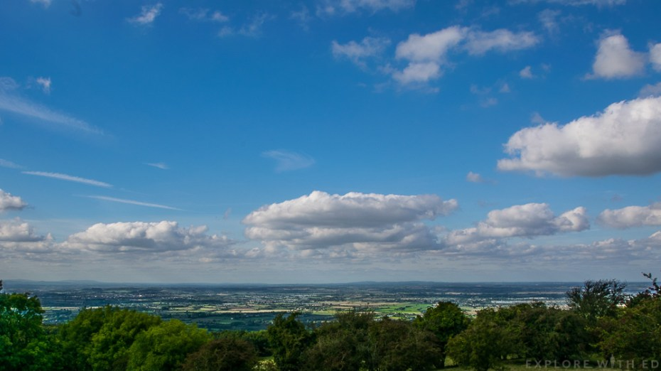 View from Broadway Tower in Worcestershire