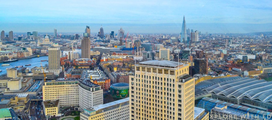 View of the city of London and The Shard from The London Eye