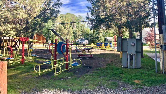 play ground at Livingston Montana KOA