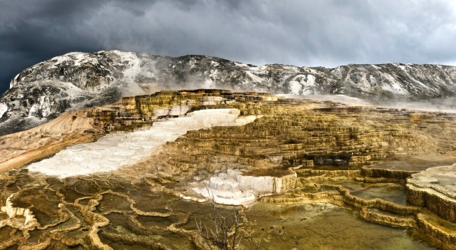 mound springs at mammoth hot springs
