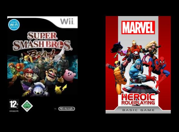 Super Smash Bros plus Marvel Heroic Roleplaying