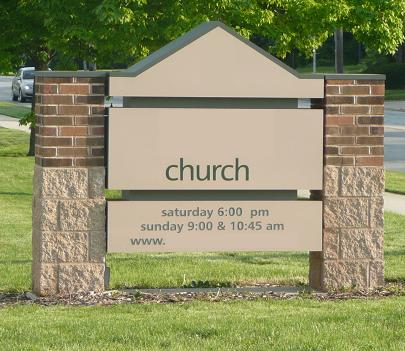Church 2\'s sign