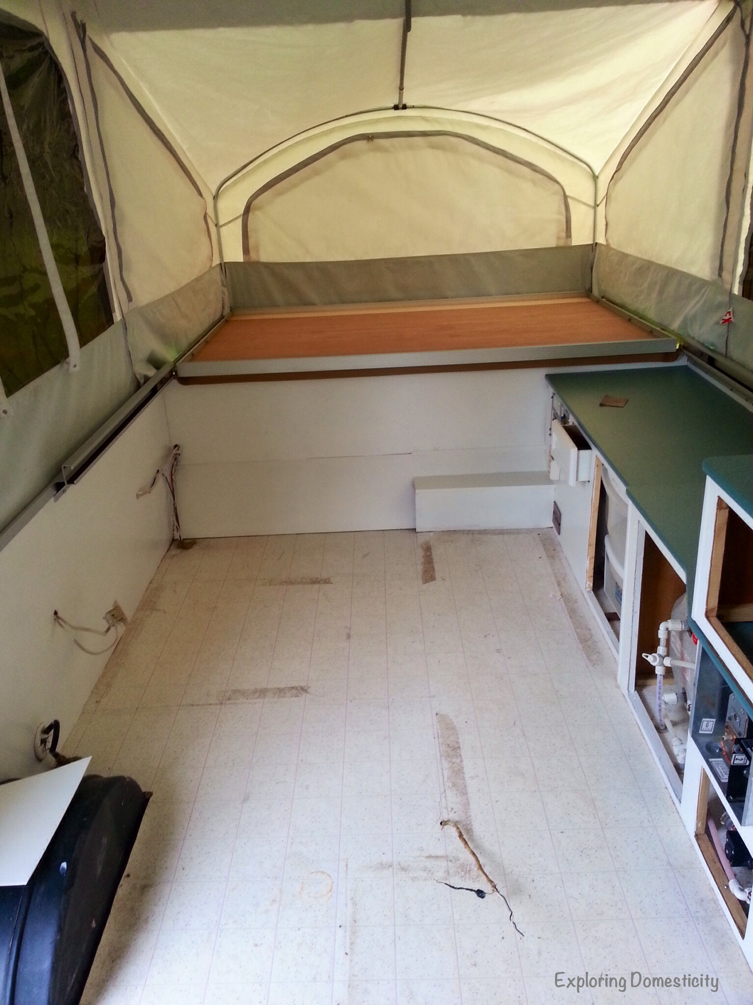 Pop Up Camper Remodel Painting And Flooring Exploring
