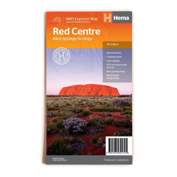 Hema Maps Red Centre Uluru map