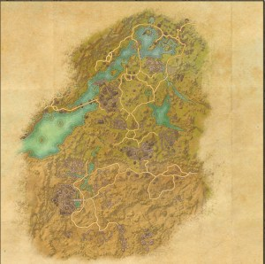 The maps of the Elder Scrolls Online - Bangkorai