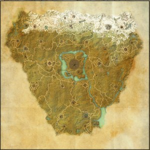 The maps of the Elder Scrolls Online - Cyrodiil